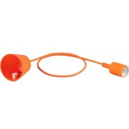 Патрон для ламп со шнуром 1м, 230V E27, оранжевый, LH127