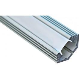 Профиль алюминиевый угловой с фаской, серебро, CAB272