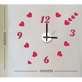 Часы-наклейка на стену NL37 с питанием от батареек