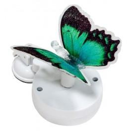 """Светильник садово-парковый на присоске на солнечной батарее """"Бабочка"""" зеленый, 1 RGB LED, 46*30*42мм, PL264"""