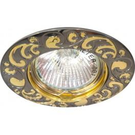 Светильник встраиваемый 2005DL потолочный MR16 G5.3 черный металлик-золото