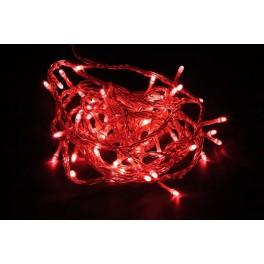 Светодиодная гирлянда CL02 линейная 230V красный c питанием от сети