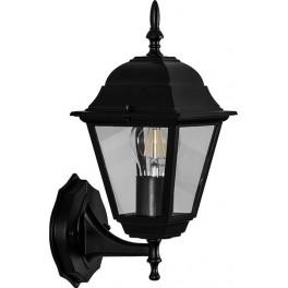 Светильник садово-парковый 4201 четырехгранный на стену вверх 100W E27 230V, черный
