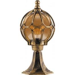 Светильник садово-парковый PL3704  круглый на постамент 60W 230V E27, черное золото