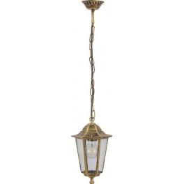 Светильник садово-парковый 6105 шестигранный на цепочке 60W E27 230V, черное золото
