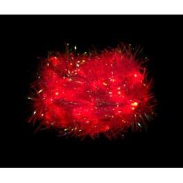 Светодиодная гирлянда CL40 мишура 230V красный c питанием от сети