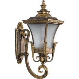 Светильник садово-парковый PL4021 четырехгранный на стену вверх 60W E27 230V, черное золото