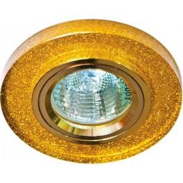 Светильник встраиваемый 8060-2 потолочный MR16 G5.3 мерцающее золото