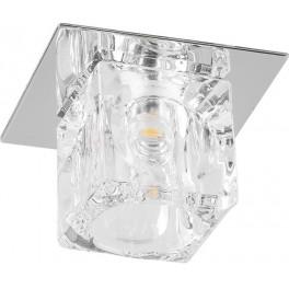 Светильник встраиваемый светодиодный BS 125-FB потолочный 10W 3000K прозрачный хром
