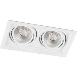 Светодиодный светильник AL202 карданный 2x20W 4000K 35 градусов ,белый