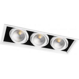 Светодиодный светильник AL213 карданный 3x30W 4000K 35 градусов ,белый