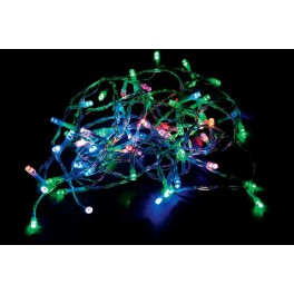Светодиодная гирлянда CL02 линейная 230V разноцветная c питанием от сети