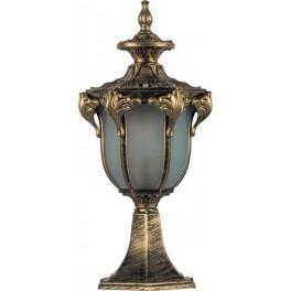 Светильник садово-парковый PL4043 шестигранный на постамент 60W 230V E27, черное золото