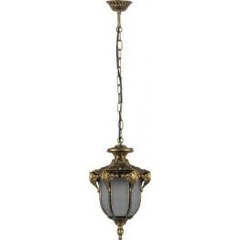 Светильник садово-парковый PL4054 шестигранный на цепочке 60W 230V E27, черное золото