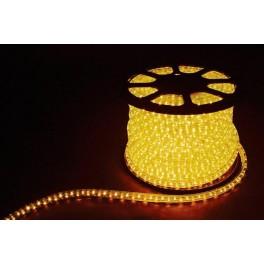 Дюралайт светодиодный LED-F3W 3-х жильный , желтый, 2,88Вт/м 72LED/м 50м 220V