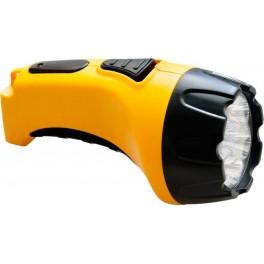 Фонарь аккумуляторный, 7 LED DC (свинцово-кислотная батарея), желтый, TH2294 (TH93B)