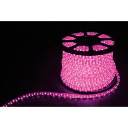 Дюралайт (световая нить) со светодиодами, 3W 50м 230V 72LED/м 11х17мм, розовый, LED-F3W