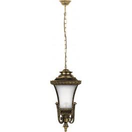 Светильник садово-парковый PL4024 четырехгранный на цепочке 60W E27 230V, черное золото