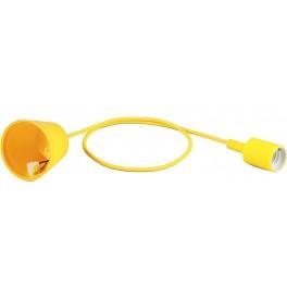 Патрон для ламп со шнуром 1м, 230V E27, желтый, LH127