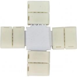 Комплект Х коннекторов  с соединителем для светодиодной ленты RGB (5050/10мм), LD192