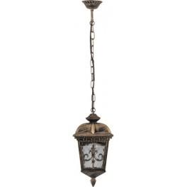 Светильник садово-парковый PL4095 четырехгранный на цепочке 60W E27 230V, черное золото