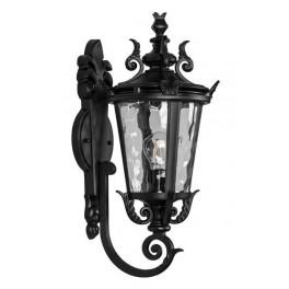 Светильник садово-парковый PL4001 круглый на стену вверх 60W 230V E27, черный