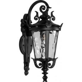 Светильник садово-парковый PL4002 круглый на стену вниз 60W 230V E27, черный