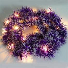 Светодиодная гирлянда CL800 мишура фиолетовый с питанием от батареек Артикул