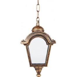 Светильник садово-парковый PL4014 четырехгранный на цепочке 60W E27 230V, черное золото