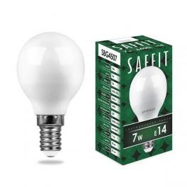 Лампа светодиодная SAFFIT SBG4507 Шарик E14 7W 6400K