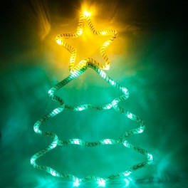 Световая фигура 4,5V  15 LED, белый цвет свечения, батарейки 3*АА IP20, 28*40 см, LT052 артикул