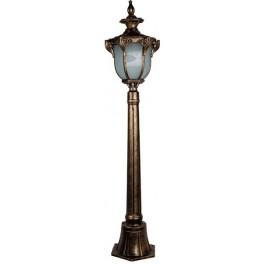 Светильник садово-парковый PL4056 столб шестигранный 60W 230V E27, черное золото