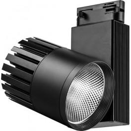 Светодиодный светильник AL105 трековый на шинопровод 40W 4000K, 35 градусов, черный