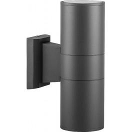 Светильник садово-парковый DH0702, Техно на стену вверх/вниз, 18W 2*E27 230V, серый