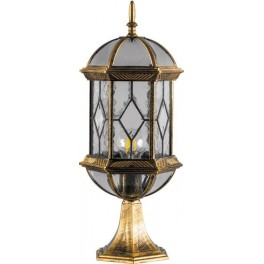 Светильник садово-парковый PL171 шестигранный на постамент 60W E27 230V, черное золото