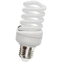 Лампа энергосберегающая, 11W 230V E14 6400K спираль T2, ELT19