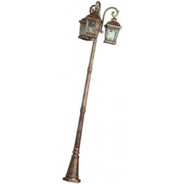 Светильник садово-парковый, 3*100W 230V E27 черное золото, PL145