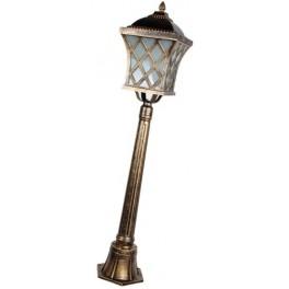 Светильник садово-парковый, 60W 230V E27 IP44 черное золото, PL4066