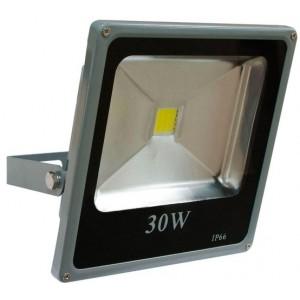 Прожектор квадратный, 1LED/30W-белый 230V 4000K серый (IP65) 235*225*60mm, LL-273,