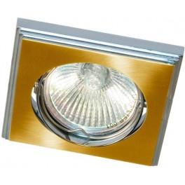 Светильник потолочный, MR11 G4.0 матовое золото-хром, DLT034