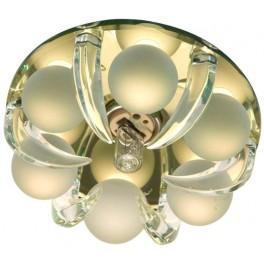 Светильник потолочный, JCD9 G9 c прозрачным и матовым стеклом, золото, с лампой, CD2530