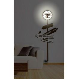 Светильник-часы 6*0,5W LEDs 5730smd с USB-проводом ( 5V адаптор в комплект не входит); 1*AA батарея ( в комплект не входит), NL73