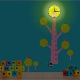 Светильник-часы 6*0,5W LEDs 5730smd с USB-проводом ( 5V адаптор в комплект не входит); 1*AA батарея ( в комплект не входит), NL74