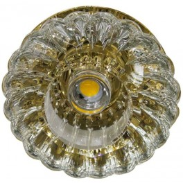 Светильник потолочный 10W 220V/50Hz 600Lm 3000K прозрачный, золото, JD88