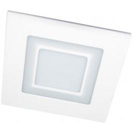 Светильник встраиваемый со светодиодами AL2551 SMD5730 16 LED SMD 3528 24 LED, 8W, 640Lm, ,белый (4000К) и красный, 960mA, IP20, 120mm