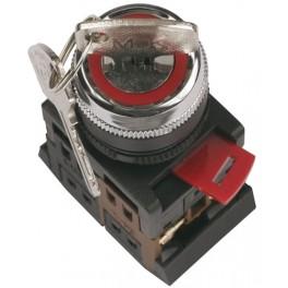 Переключатель АKS-22 черный с ключ. 2 полож. I-O 1з+1р