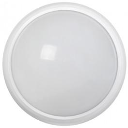 Светильник светодиодный ДПО 3030Д 12Вт 4500K IP54 круг белый пластик с ДД