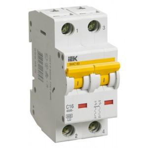 Автоматический выключатель ВА47-60 2Р 10А 6кА С