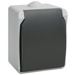 РСб20-3-ФСр Розетка одноместная с з/к для открытой установки ФОРС IP54