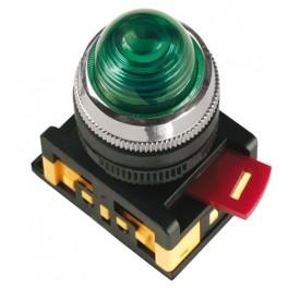 Лампа AL-22 сигнальная d22мм зеленый неон/240В цилиндр